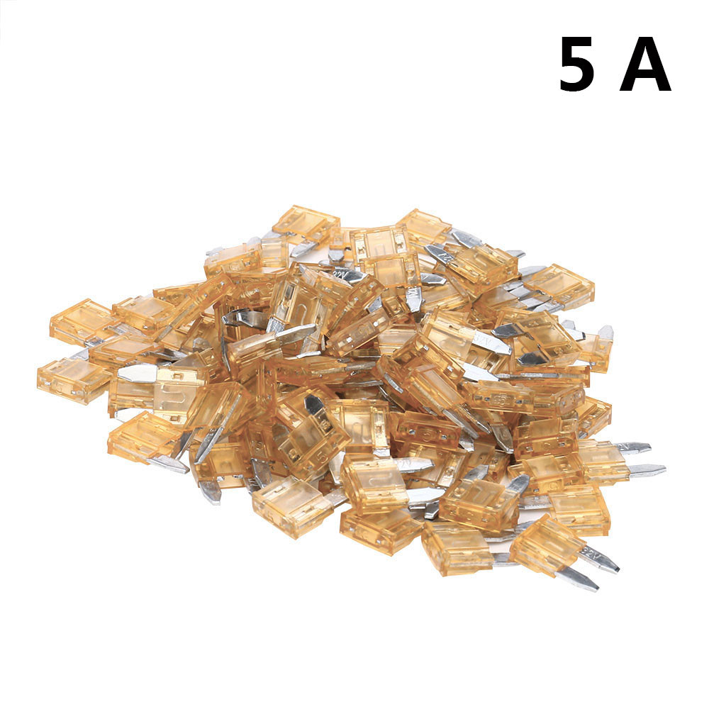 100pcs Car Accessory Assorted Truck Boat Standard Blade Fuse 5A To 30A