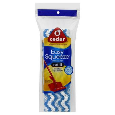 O Cedar Easy Squeeze Microfiber Wave Sponge Mop Refill, 1