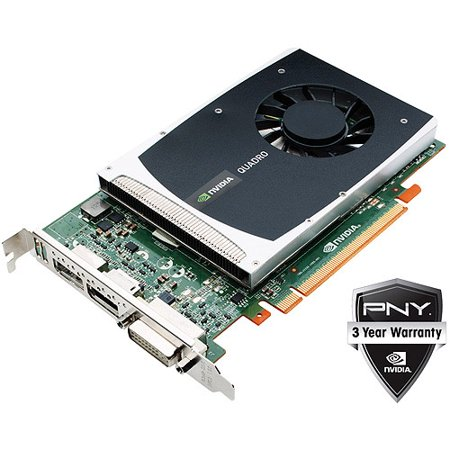 1GB nVIDIA Quadro 2000 Graphics Card PCI Express 2.0 x16 GDDR5 SDRAM