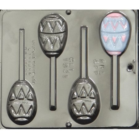 1821 Flat Easter Egg Lollipop Chocolate Candy Mold for $<!---->