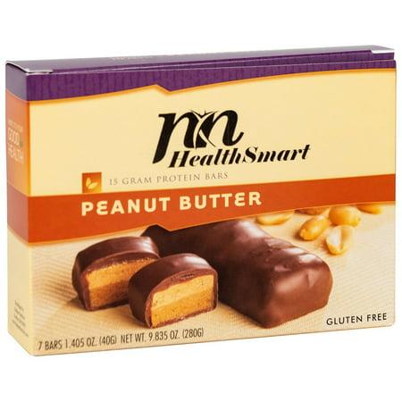 HealthSmart - High Protein Diet Bar - Peanut Butter - 15g Protein - Low Calorie - Gluten Free -