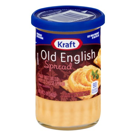 (2 Pack) Kraft Old English Sharp Cheddar Cheese Spread, 5 oz Jar