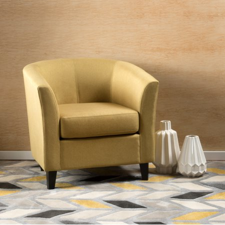 Noble House Aaron Fabric Tub Design Club Chair Light