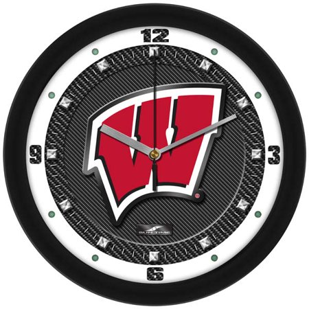 - Wisconsin Carbon Fiber Textured Wall Clock