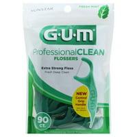 GUM Professional Clean Flossers Fresh Mint - 90 ct