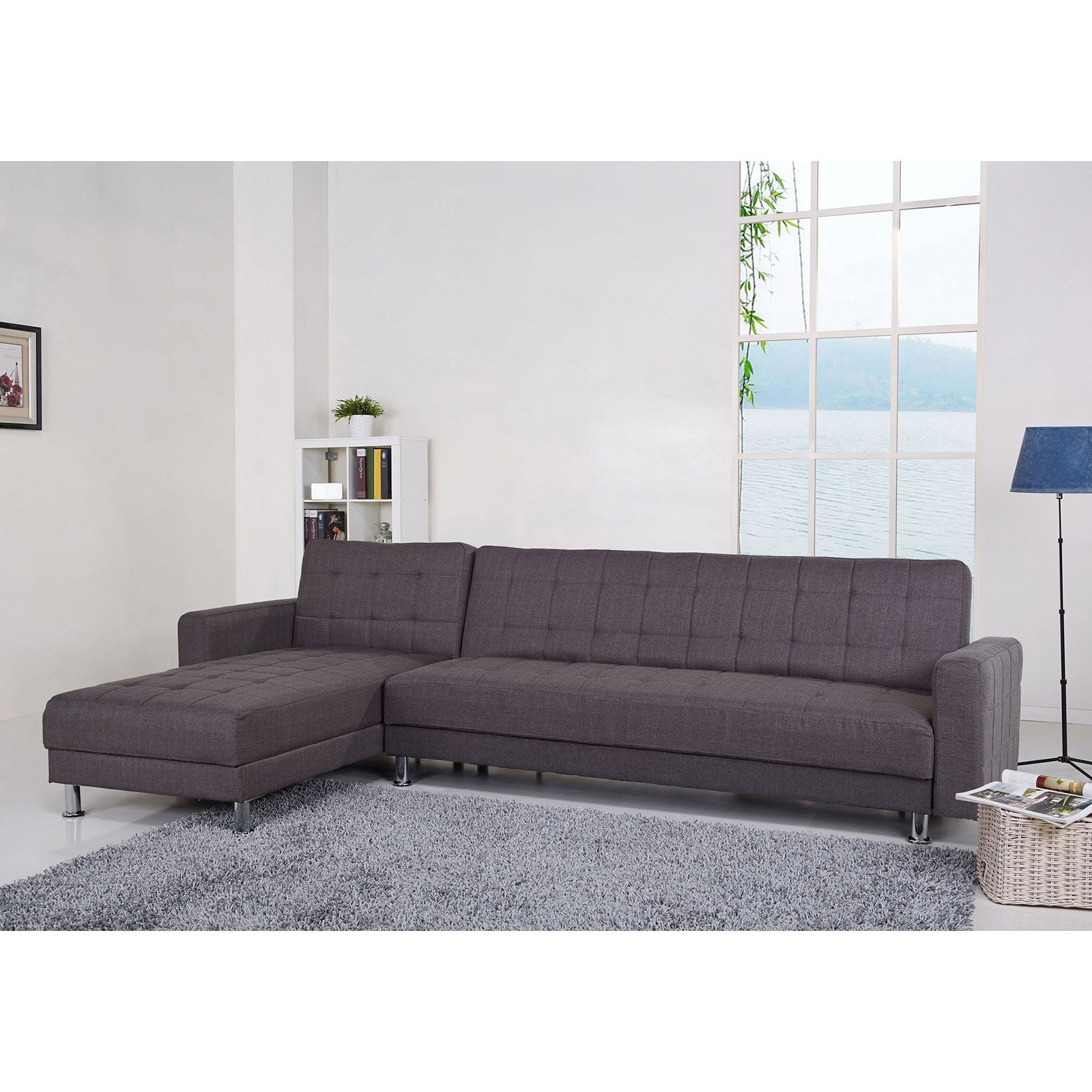 Gold Sparrow Frankfort Fabric Convertible Sectional Sofa