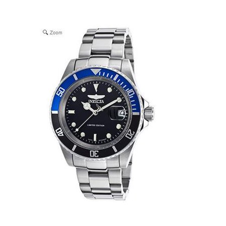 9937C Stainless Steel Coin Edge Pro Diver Black Dial Swiss