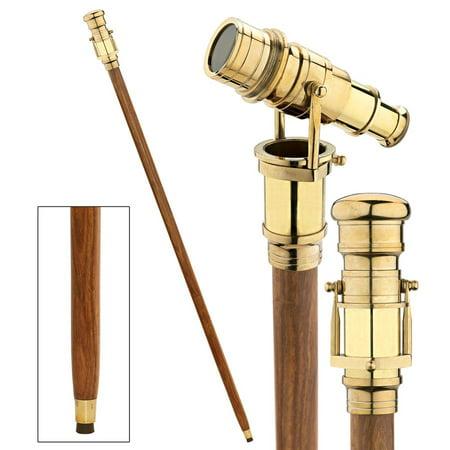 Lord Nelson Brass Telescope Solid Hardwood Walking Stick