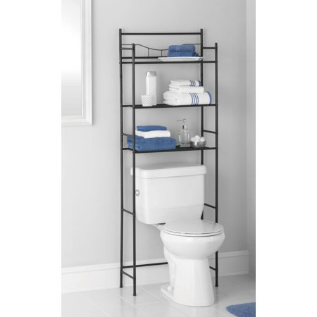 Mainstays 3 Shelf Bathroom Space Saver Oil Rubbed Bronze Black Finish