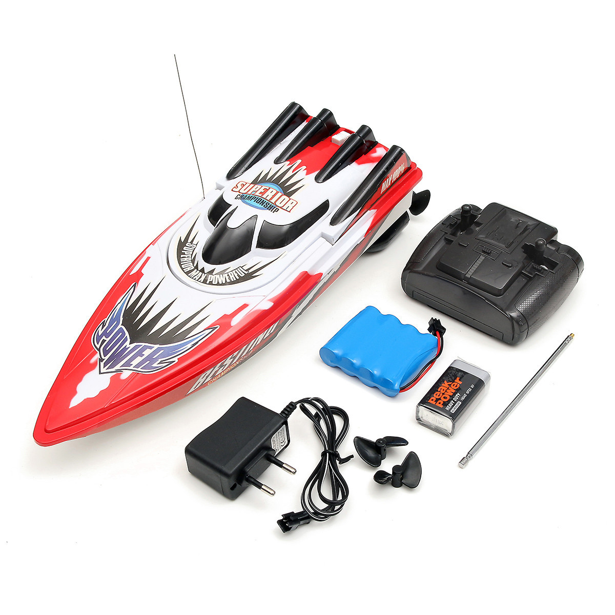 Red Racing Boat Ship Radio Remote Control Twin Motor High Speed RC Boat Toy Christmas Kids Children Birthday Gift