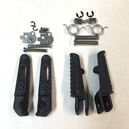 Honda Cb Cbr (HTT-MOTOR Black Front Rear Foot Peg Footrest Kit Fit For Honda CBR 1000RR 2004-2012;Honda CBR 600RR 2003-2006;Honda CB 1000R 2008-2012 )