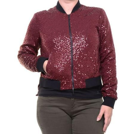 09eaaae98a1 RACHEL Rachel Roy Women s Printed Sequins Jacket Size S - Walmart.com