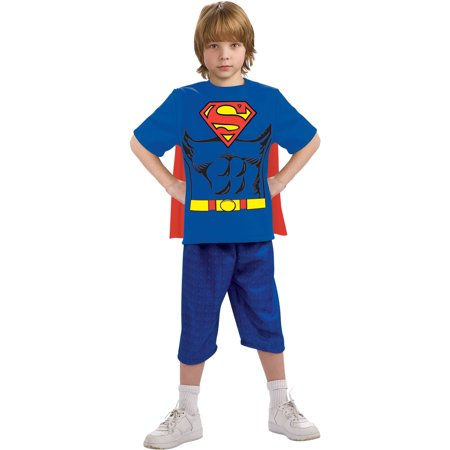 Superman Shirt with Cape Child Halloween Costume - Capes For Halloween