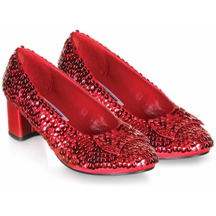 Image of Judy Red Sequin Shoes Girls' Child Halloween Costume Accessory