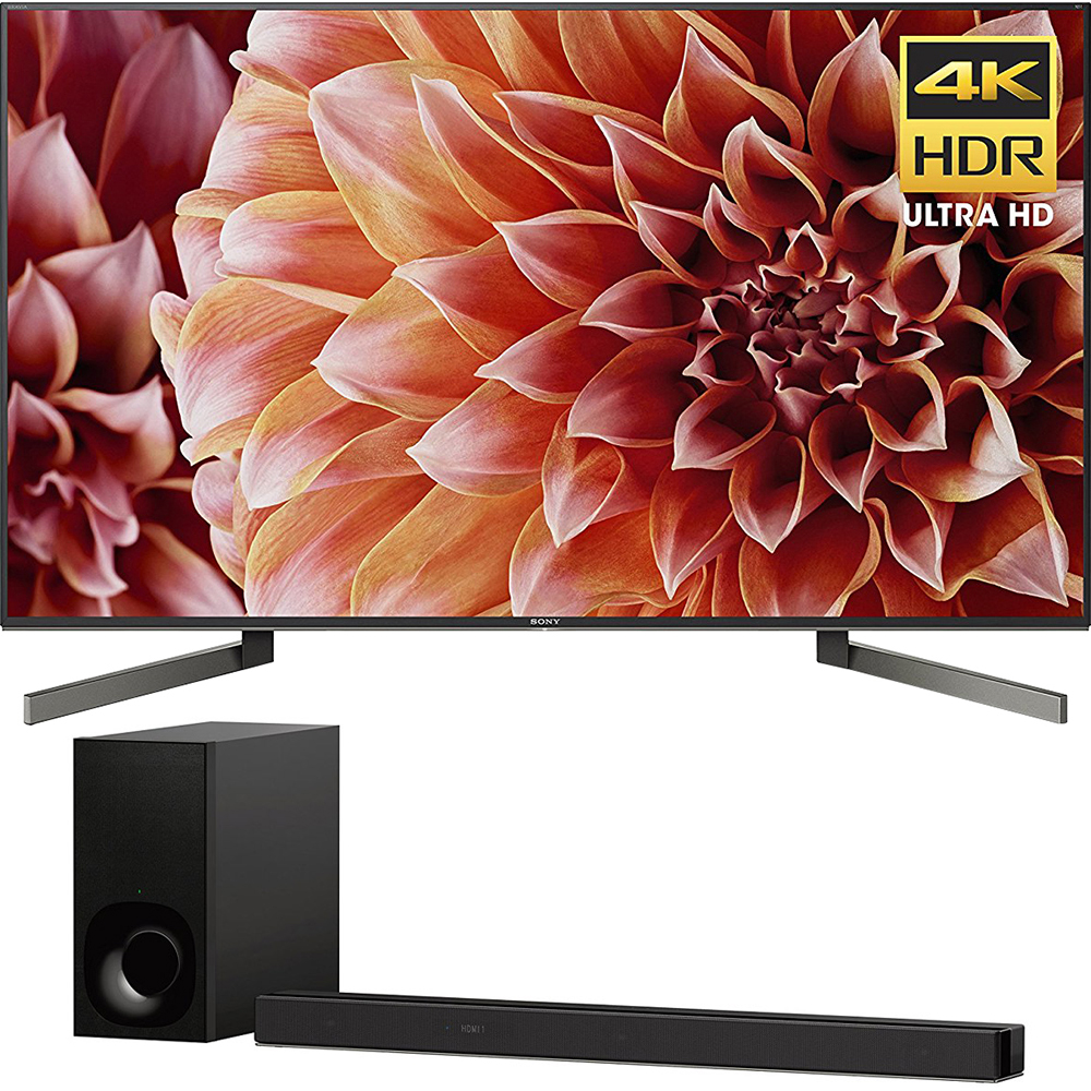 "Sony 75"" Class 4K Ultra HD (2160P) HDR Android Smart LED TV (XBR75X900F) with Sony 3.1ch Soundbar with Dolby Atmos"