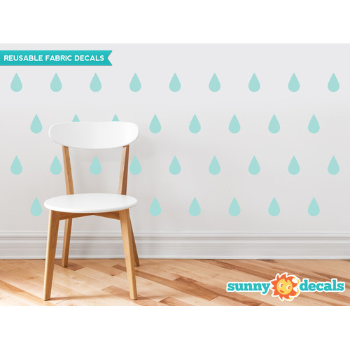 Sunny Decals Raindrop Fabric Wall Decal (Set of 40)