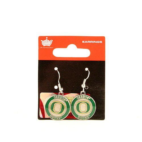 Oregon Ducks Circle Style Dangle Earrings