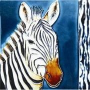 En Vogue B-155 Zebra - Decorative Ceramic Art Tile - 8 in. x 8 in.
