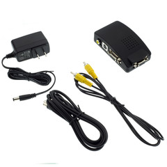 Composite Video / S-Video to VGA Converter, RCA Female / S-Video (MiniDin4) Female and Female to HD15 Female