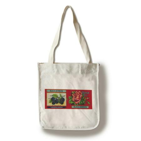 Rose Blackberry Label (100% Cotton Tote Bag - Reusable)