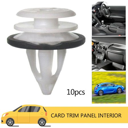 10pcs Card Trim Panel Interior For Land Rover Freelander 2 Door Clips white - image 5 of 5