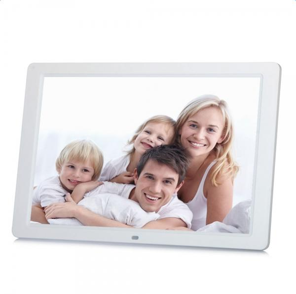 "Ktaxon 15"" 1280P LED HD Digital Photo Frame MP5 Player Support Most Video Formats Black/White"