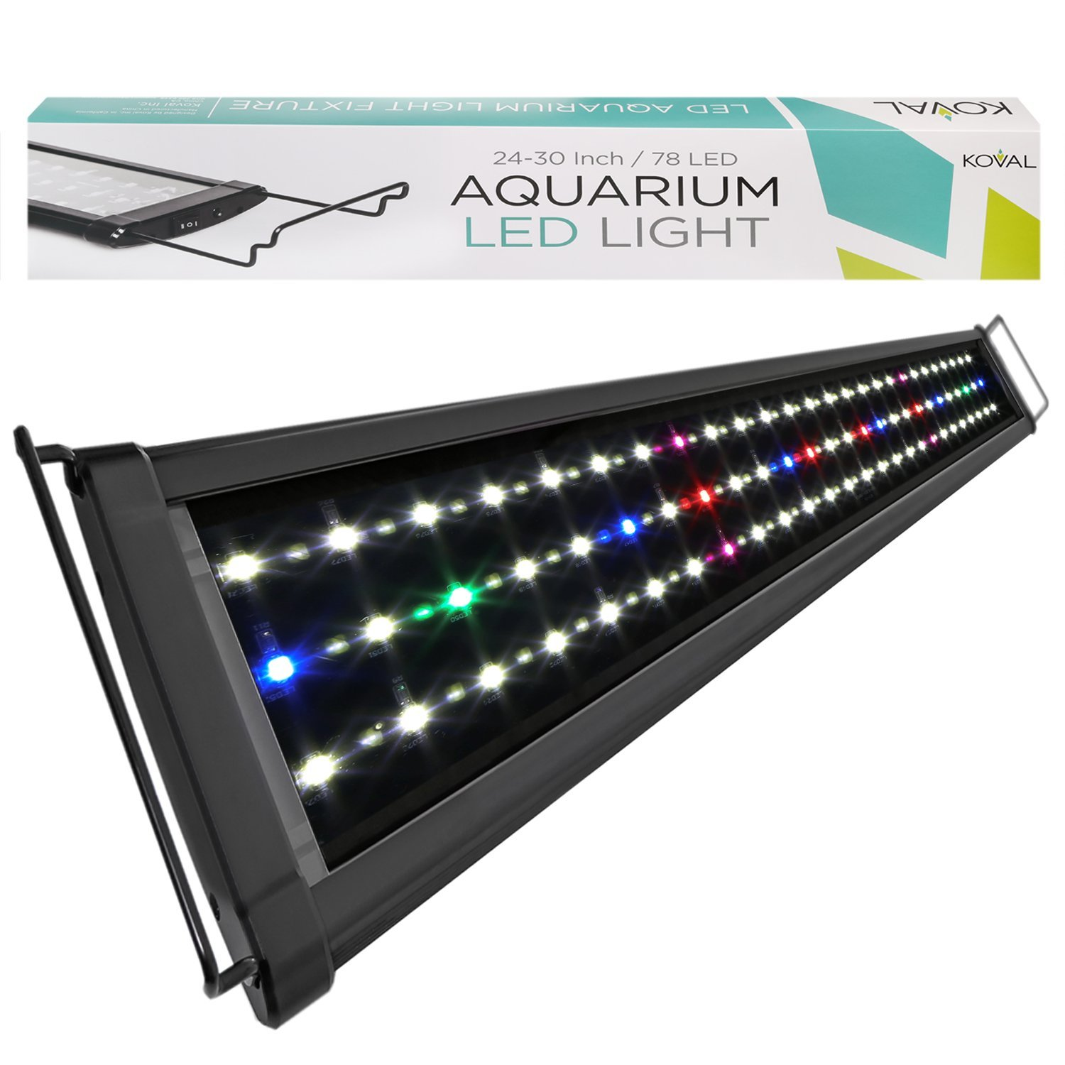 Koval Inc. 78 LED Aquarium Lighting for 24 inch - 30 inch Fish Tank Light Hood