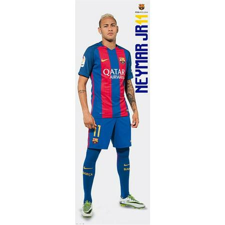Fc Barcelona   Door Poster   Print  Neymar Jr   11   Size  21   X 62