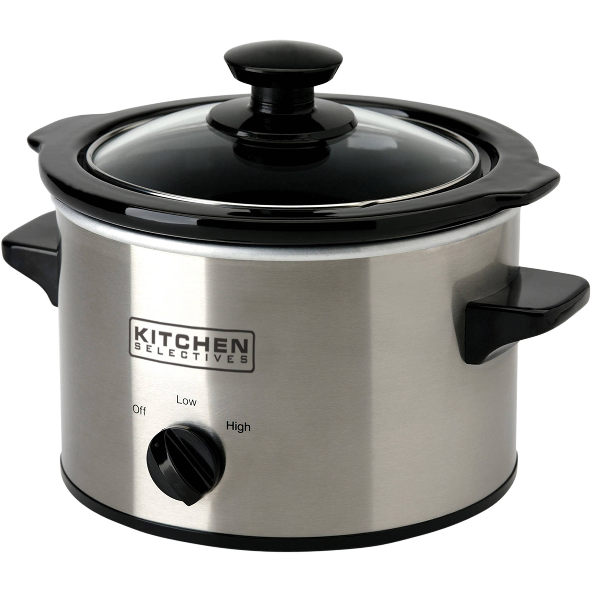 Kitchen Selectives Stainless Steel 1.5-Quart Slow Cooker, Stainless Steel