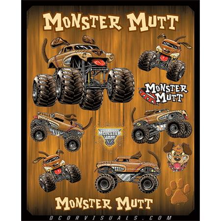 DCOR Monster Jam Decal Sheets   Monster Mutt 40-90-203
