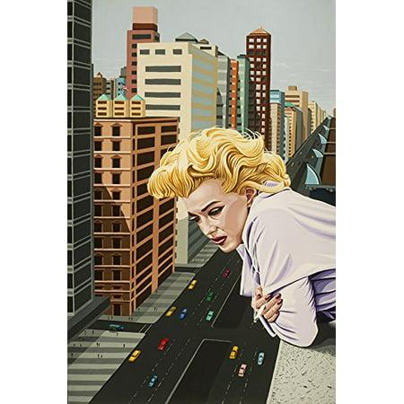 Nyc Black Letters - Marilyn Monroe The Ambassador Hotel by Karl Black 18x12 Art Print Poster NYC POD
