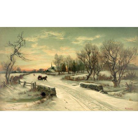 Christmas Morn Canvas Art   William C Bauer  24 X 36