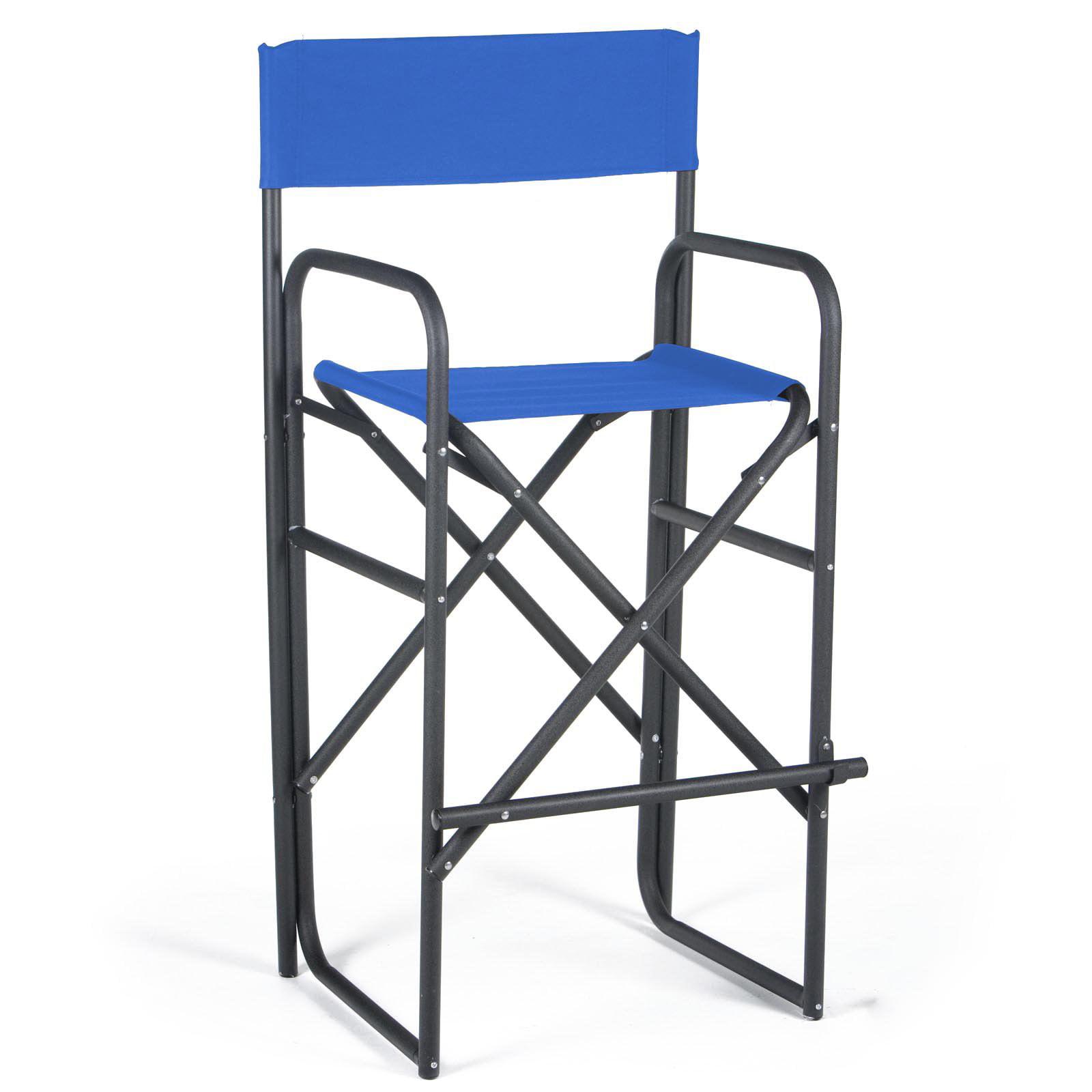 30.5 Inch Black Frame Bar Height Directors Chair