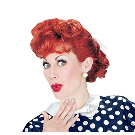 I Love Lucy Wig Adult Halloween Accessory (Long Red Wigs Halloween)