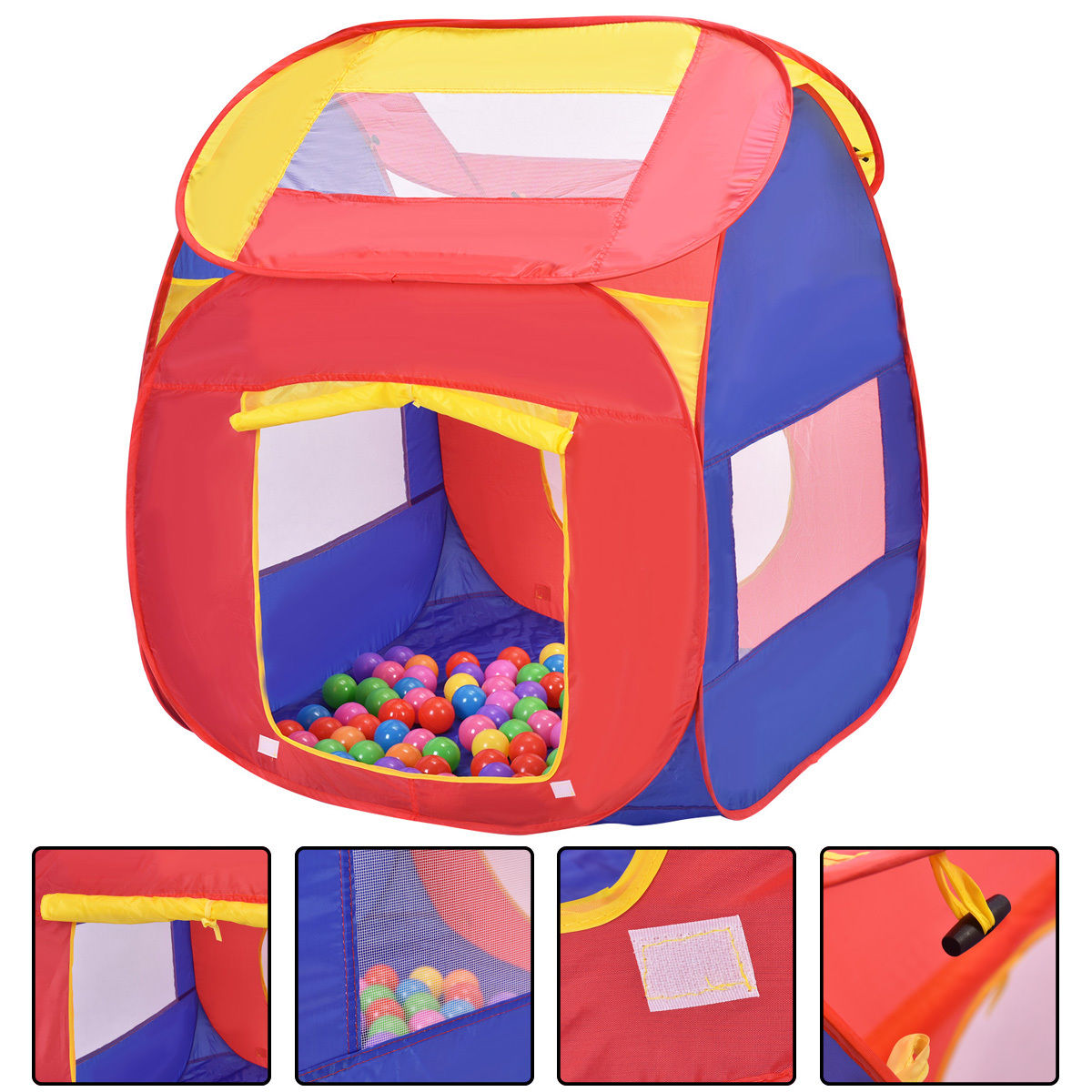 Costway Portable Kid Baby Play House Indoor Outdoor Toy Tent Game Playhut With 100 Balls  sc 1 st  Walmart & Costway Portable Kid Baby Play House Indoor Outdoor Toy Tent Game ...