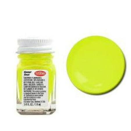 Yellow Fluorescent Enamel Paint Testors 1/4 Oz (Testors Enamel Paint Yellow)
