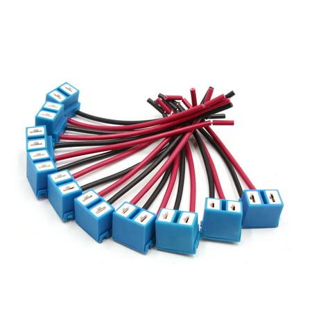 10 Pcs H7 Ceramic Wire Auto Car Head Light Bulb Socket Harness (H7 Headlight Wire Harness)