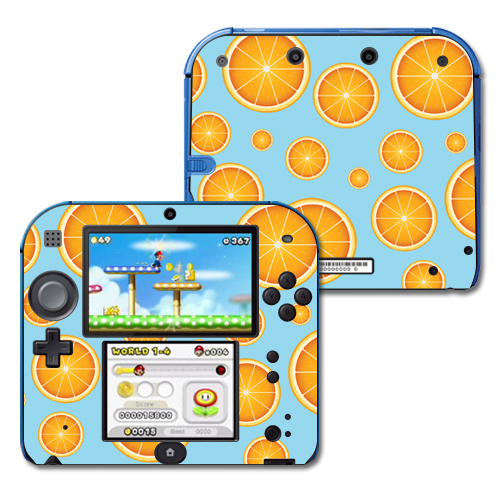 Mightyskins Protective Vinyl Skin Decal Cover for Nintendo 2DS wrap sticker skins Orange Slices