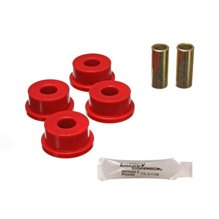 Firebird Rear Bushings - Energy Suspension 82-01 Chevy Camaro / 82-02 Pontiac Firebird Rear Red Panhard Bar Bushing Set