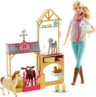 Barbie Farm Vet Doll Playset by Mattel
