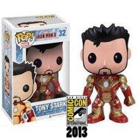 SDCC 2013 FUNKO POP IRON MAN 3 Mark 32 Unmasked Tony Stark Figure