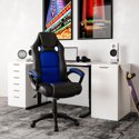Lifestyle Solutions Akron Gaming Office Chair with Faux Leather