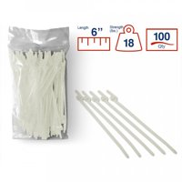 34745c68ec17 Product Image BCT Easy Release 6 Inch Tear Away Cable Ties - Bag of 100 Bag  - Natural