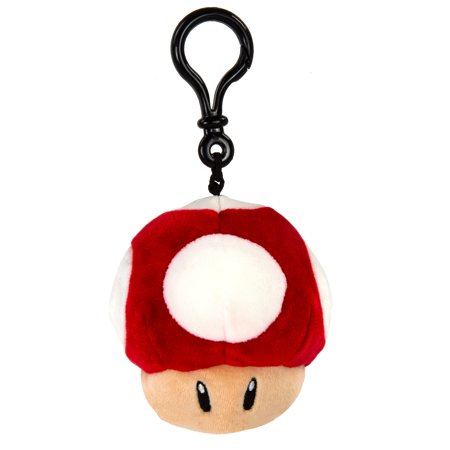Mario Kart Club Mocchi Mocchi Mushroom Clip-On Plush Toy](Halloween Stuffed Mushrooms)