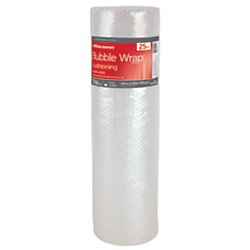 Office Depot Bubble Roll, Extra-Wide, 3/16in. Thick, Clear, 24in. x 25ft., 284333