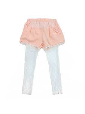 Richie House Girls' Shorts with Lace Tights RH0271