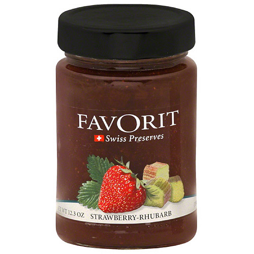 Favorit Swiss Strawberry Rhubarb Preserves, 12.3 oz (Pack of 6)