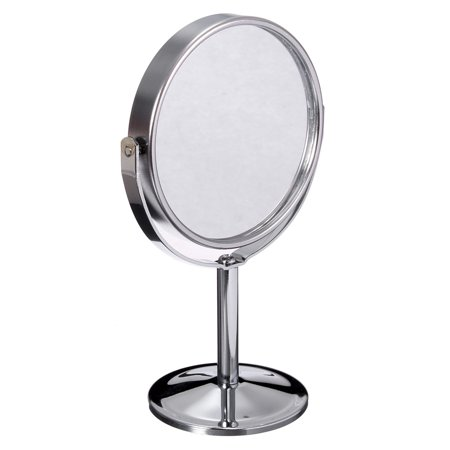 6 Inch 360 degrees Table Mirror Magnification Tabletop Vanity Standing Oval Mirror Two Side Makeup  - image 7 de 10