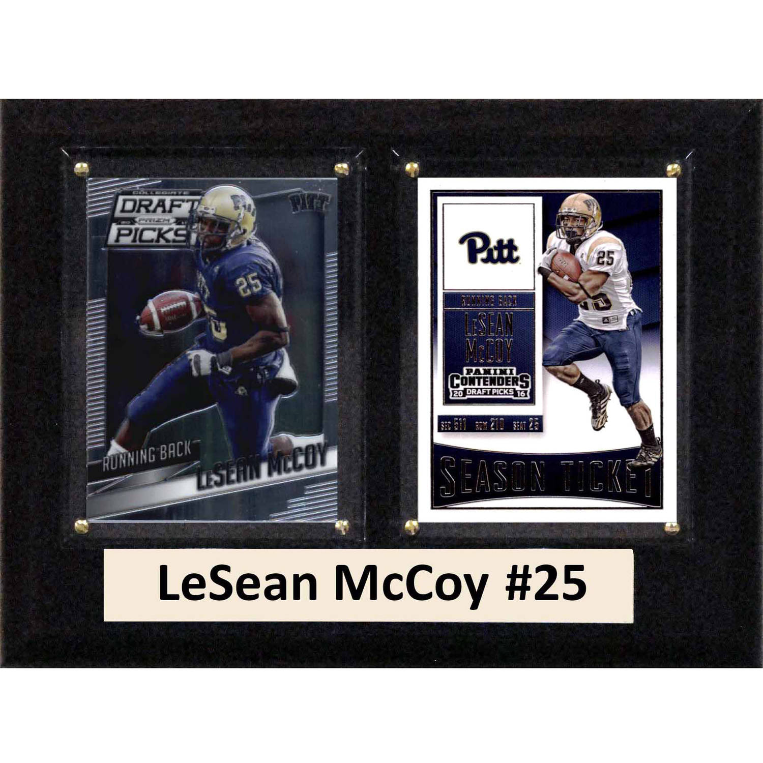 """C & I Collectables NCAA 6"""" x 8"""" LeSean McCoy Pittsburgh Panthers 2 Card Plaque"""