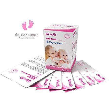 Wondfo 25Pack (10mIU) Early Result Pregnancy HCG Urine Test Strips. 25 HCG Tests